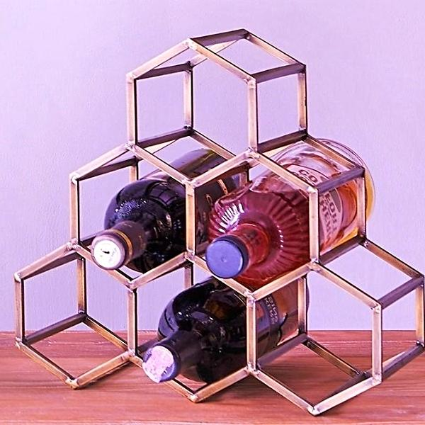 Beehive Wine Rack - Antique Copper