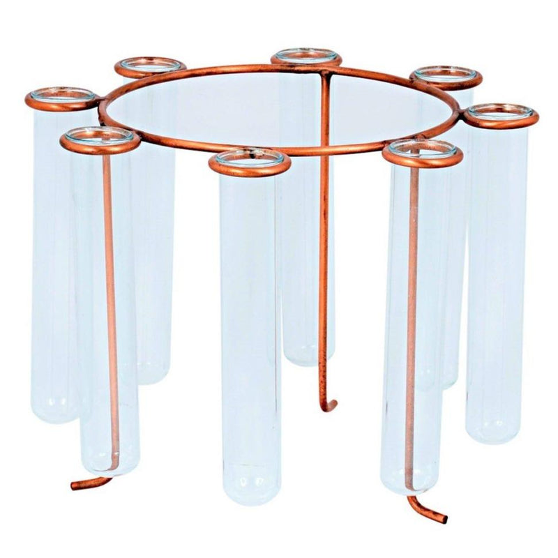 Carousel Test Tube Vase - Antique Copper