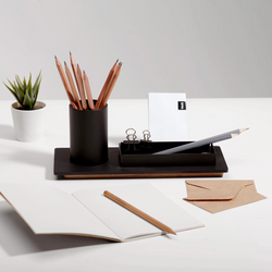 Three Desk Organiser - Space Black