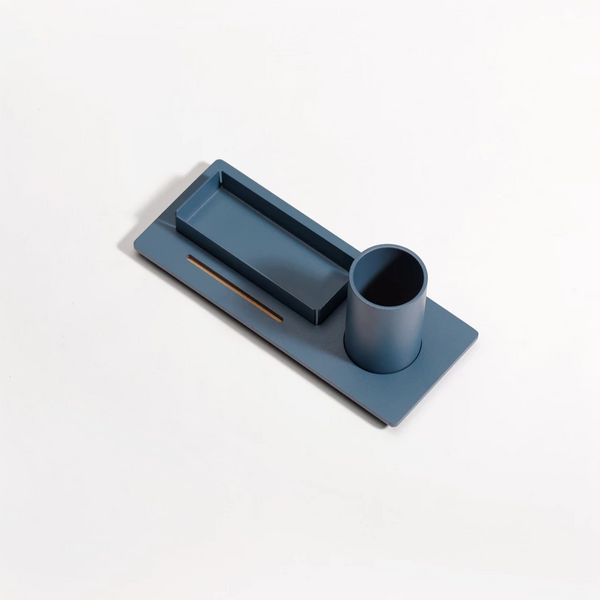 Three Desk Organiser - Midnight Blue