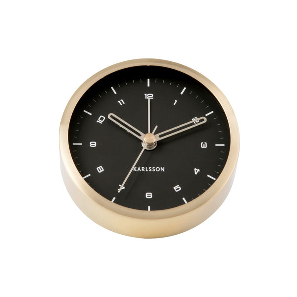 Tinge Alarm Clock Small - Black Gold