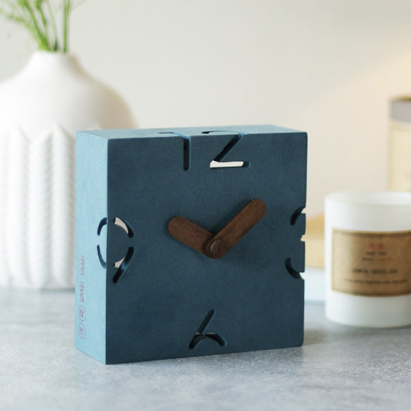 Tobe Wooden Table Clock - Blue