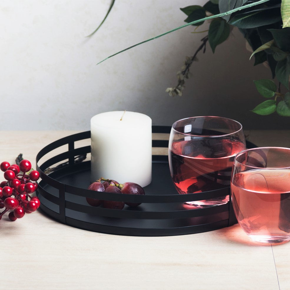 Tread Drinks Tray - Black