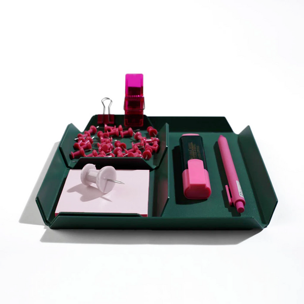 Treyo Desk Organizer - Forest Green