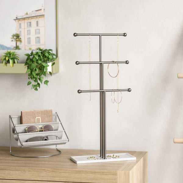 Trigem Jewellery Stand - White Nickel