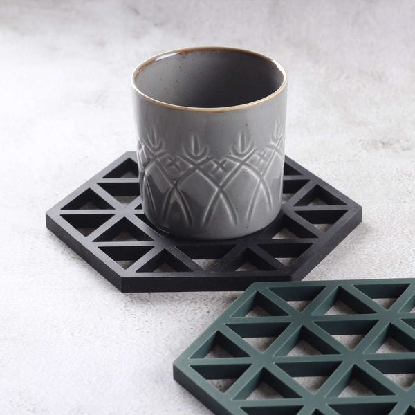Triangles Trivet - Black