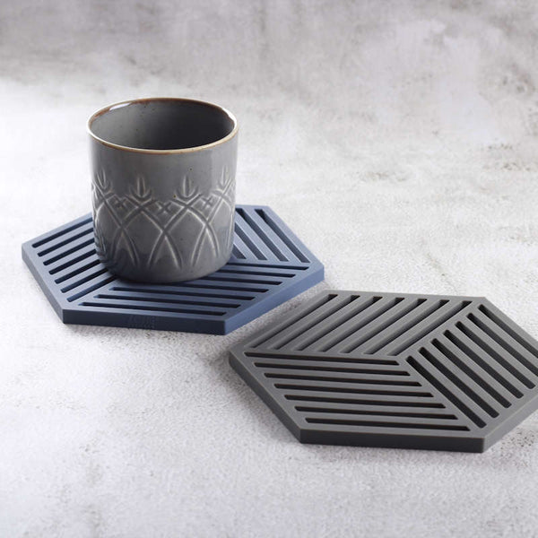 Hexagon Trivet - Denim