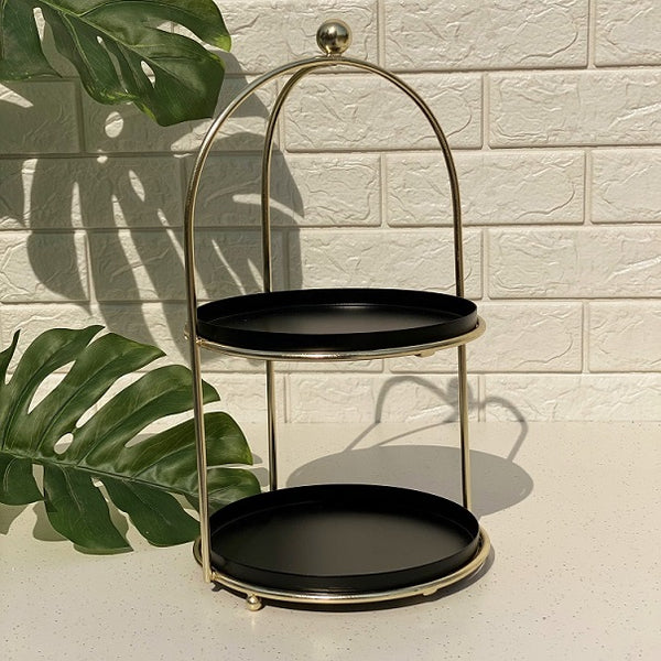 Tromso Two-Tier Stand - Black