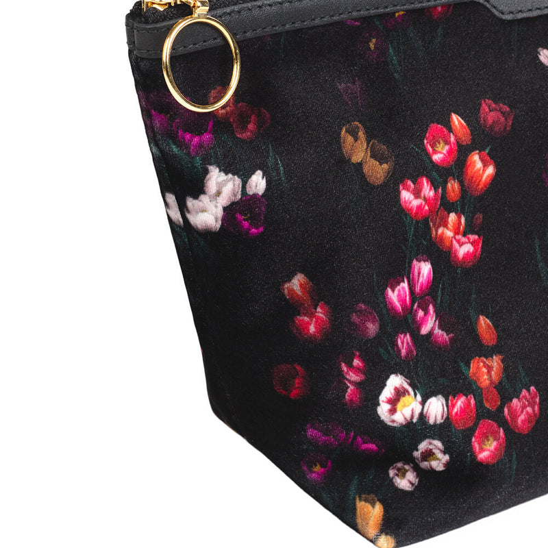 Tulips Velvet Beauty Bag