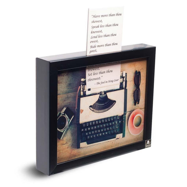 Typewriter 3D Wall Art
