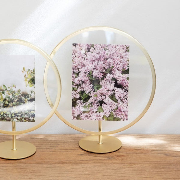 Infinity Photo Frame - Brass 5x7
