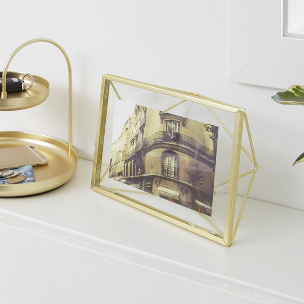 Prisma Photo Frame - Brass 4x6