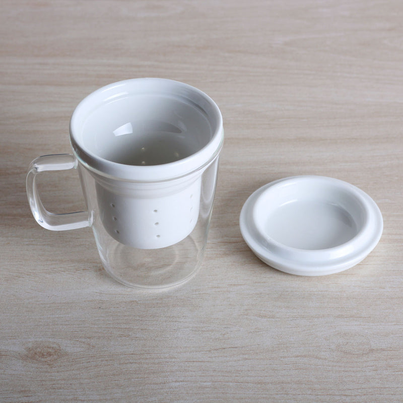 Uni Glass Mug with Porcelain Filter
