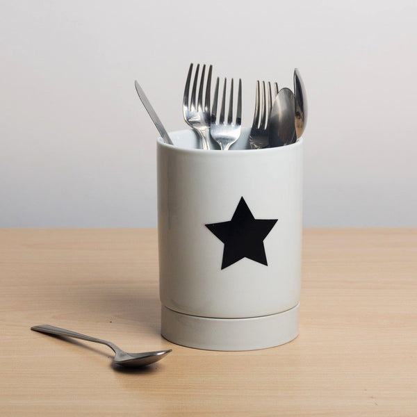 Porcelain Utensil Jar - Star