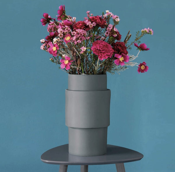 Centric Vase Large - Steel Grey
