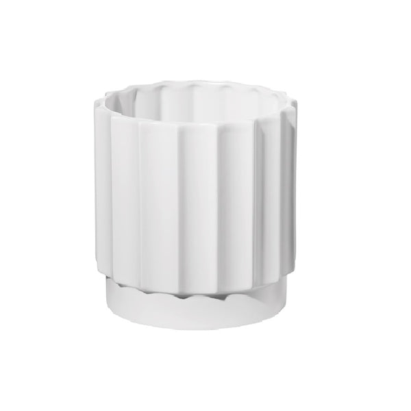 Art Deco Circular Vase Small - White
