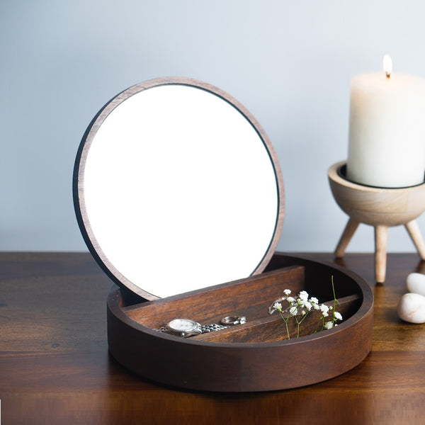 Wooden Jewellery Box - Round