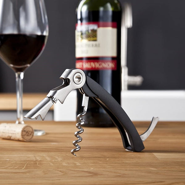 3-in-1 Waiter's Corkscrew - Black