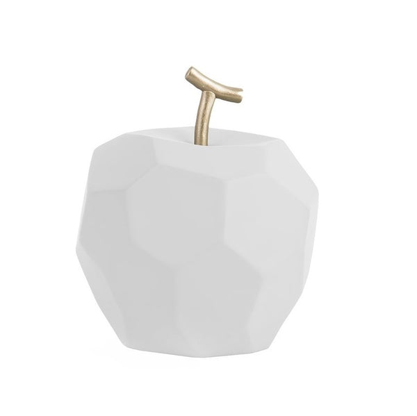 Origami Faceted Apple - Matte White