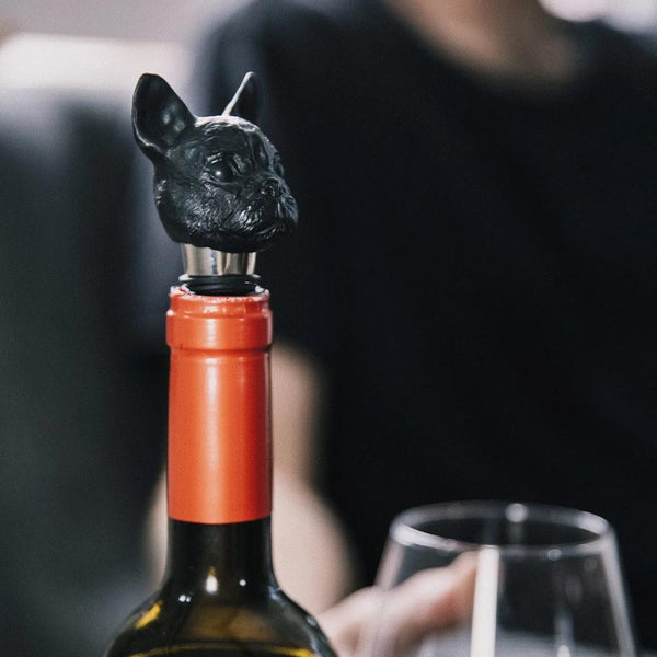 Bottle Stopper, Canine - Black