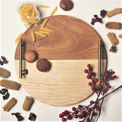 Wooden Round Tray - Duo