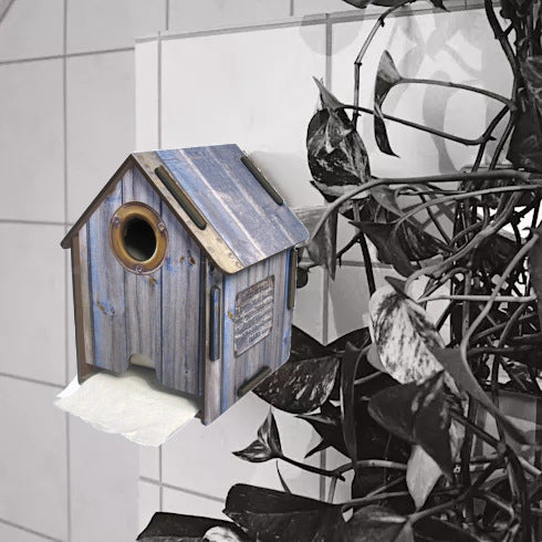 Toilet Paper House - Wood Blue