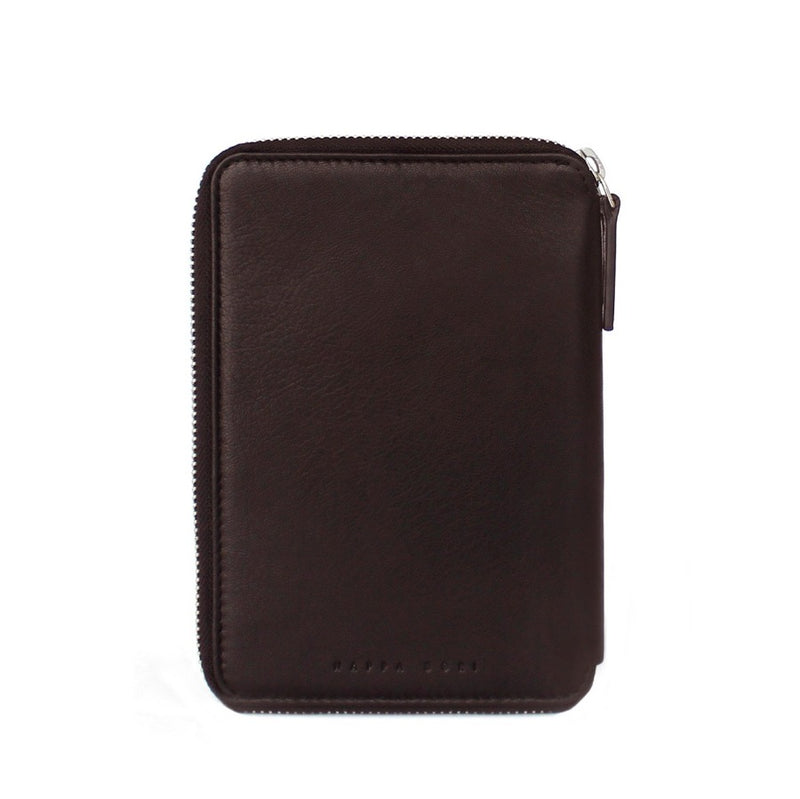 Zipper Passport Case - Dark Brown