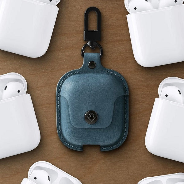 AirSnap Leather Case for Airpods - Teal