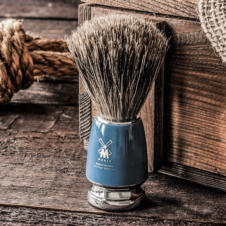 Rytmo Badger Shaving Brush - Blue