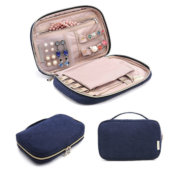 Belle Travel Jewellery Organizer - Navy