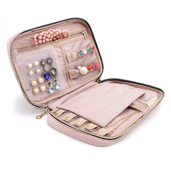 Belle Travel Jewellery Organizer - Pink