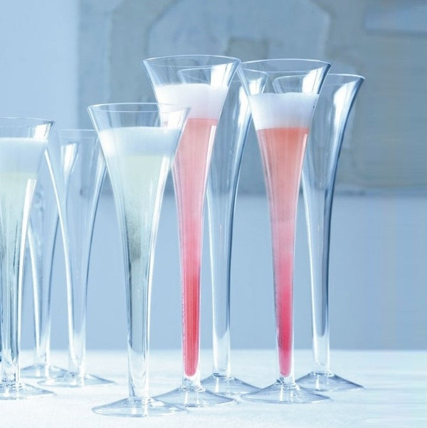 Grand Hollow Stem Champagne Flutes, Set of 2