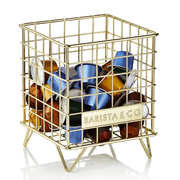 Corral Coffee & Tea Storage Cage - Gold