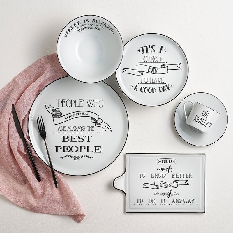Be Happy Serving Platter Medium - Know Better