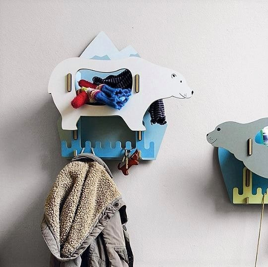 Jumbo Animal Hooks - Polar Bear