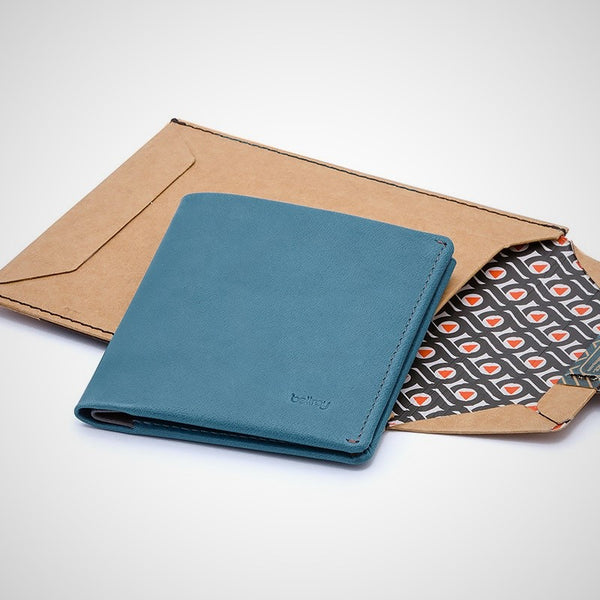 Note Sleeve Wallet - Arctic Blue