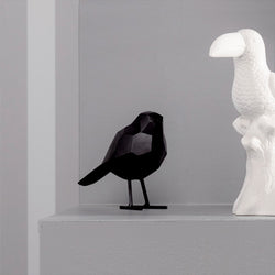 Bird Faceted Sculpture Small - Black