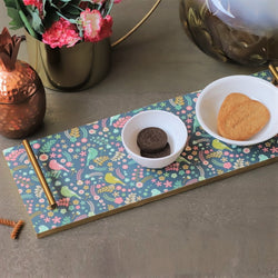 Patterned Long Tray -  Birdies
