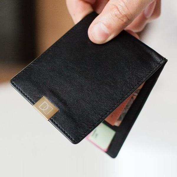 Slim Wallet - Black Gold