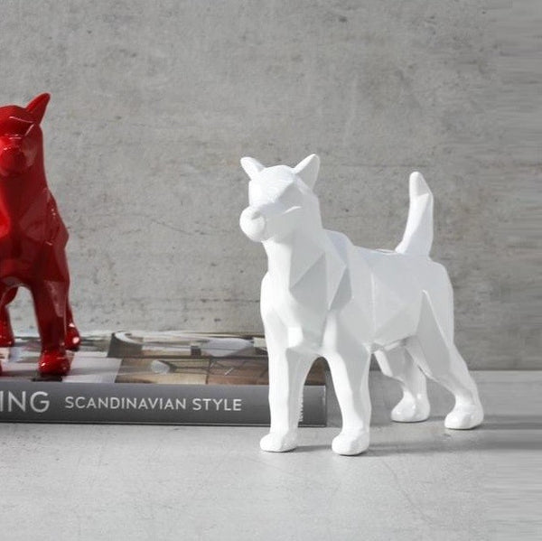 Bolt Dog Sculpture - White
