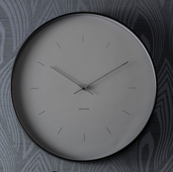 Carter Metal Case Wall Clock - Grey
