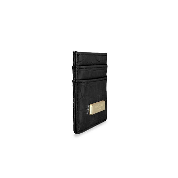 Celine Card Holder - Black Croc