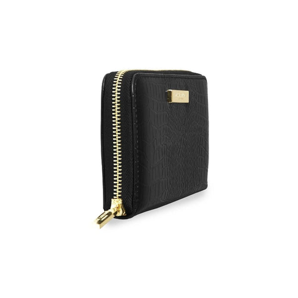 Celine Zip Wallet - Black Croc