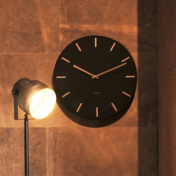 Charm Wall Clock Large - Black