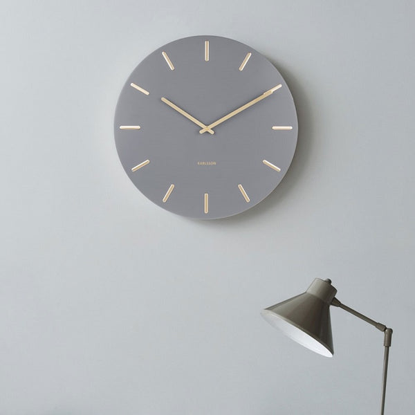 Charm Wall Clock - Grey