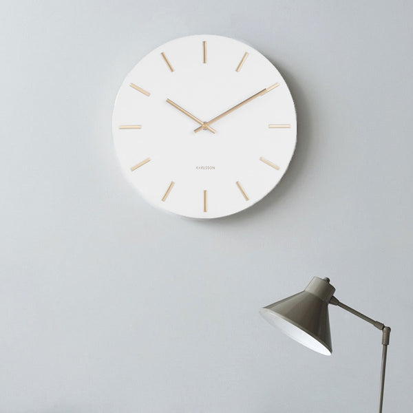 Charm Wall Clock - White