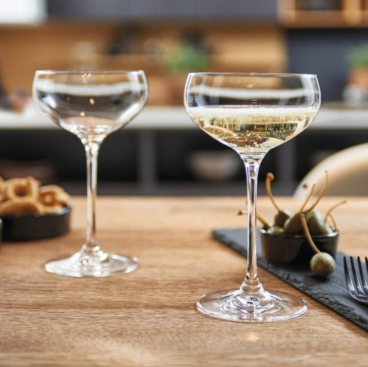 Cheers Champagne Glasses, Set of 6