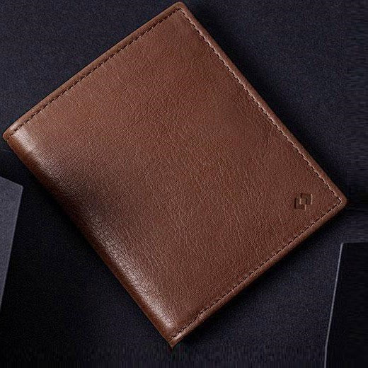 Leather Bifold Wallet RFID - Deep Brown