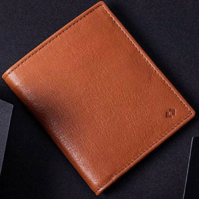 Leather Bifold Wallet RFID - Tan