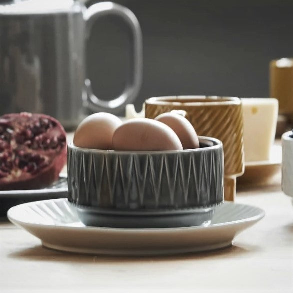 Coffee and More Cereal Bowl - Grey